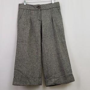 Anthropologie Cartonnier Wide Leg Crop Pants Cuff